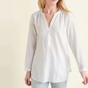 Old Navy V Neck Tunic Button Down